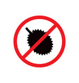 no durian sign vector image