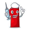 nurse number one index finger on cartoon vector image