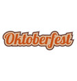oktoberfest sticker word text greetings from vector image vector image