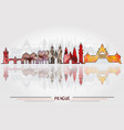 prague city background vector image vector image