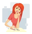 Pretty girl painting vector image vector image
