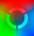 Red Green and Blue Color Wheel vector image vector image