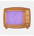 retro tv icon in cartoon style vector image