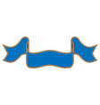 ribbon blue sign 1309 vector image vector image