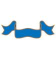ribbon blue sign 1309 vector image vector image