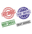 scratched textured best choice stamp seals vector image vector image