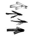 set graffiti arrows drawn a brush vector image