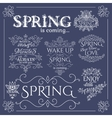 Set of headlines with Spring Quotes vector image vector image