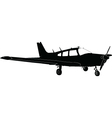 silhouette of the aircraft vector image vector image