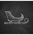 sledge icon vector image