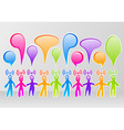 Social media community vector image vector image