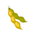soy bean pod icon unhealthy eating cartoon vector image