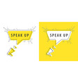 speaker and tag speak up vector image vector image