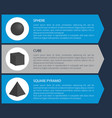sphere and cube poster set vector image vector image