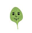 spinach sleeping emoji green leaf isolated asleep vector image