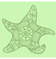 Starfish color drawing vector image vector image
