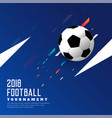stylish soccer game blue background with football vector image vector image