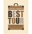 tour best vector image vector image