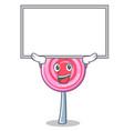 up board cute lollipop character cartoon vector image vector image