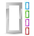 vertical frame door frame icon in 5 color vector image