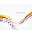 Wave line with snowflakes Christmas abstract vector image