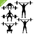 Weight-lifting silhouettes vector image vector image