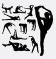 Woman aerobic dance fitness sport silhouettes