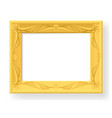 wooden frame on white background for design vector image vector image
