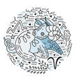 zodiac signes aries vector image vector image