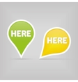 two map signs vector image