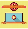 Retro vintage video player interface for web vector image