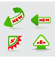 3d green arrow labels vector image