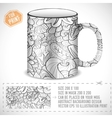 abstract art design for print on a cup conc vector image vector image