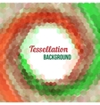 Abstract tessellation background vector image
