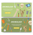 archaeology set banners vector image vector image