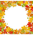 autumn falling leaf frame isolated on white vector image vector image