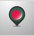 bangladesh map pin vector image