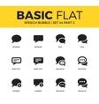 basic set speech bubble icons vector image