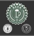 beer monochrome emblem vector image