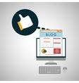 Blog design Social media concept online vector image