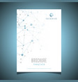 business brochure design with connecting dots vector image vector image