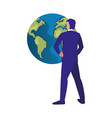 business man world vector image