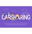 Carsharing concept vector image