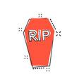 cartoon halloween grave icon in comic style vector image