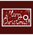 Christmas sale tag with snowflakes and Merry vector image vector image