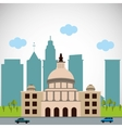 City and Building icon design vector image vector image
