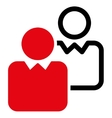 Clients icon from Business Bicolor Set vector image