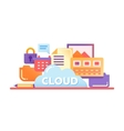 Cloud Storage Technology - flat design website vector image vector image