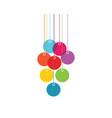 color lampions vector image