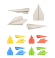 Colorful paper models of planes vector image